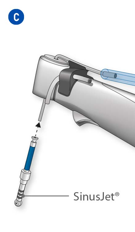 Insert the SinusJet® in the contra-angle handpiece.